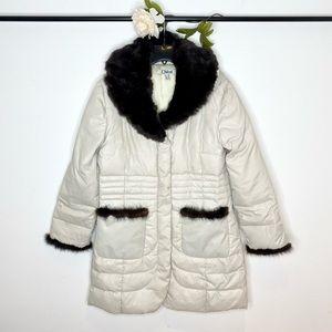 Chloe Vintage Down-Filled Puffer Coat w/Fur Trim